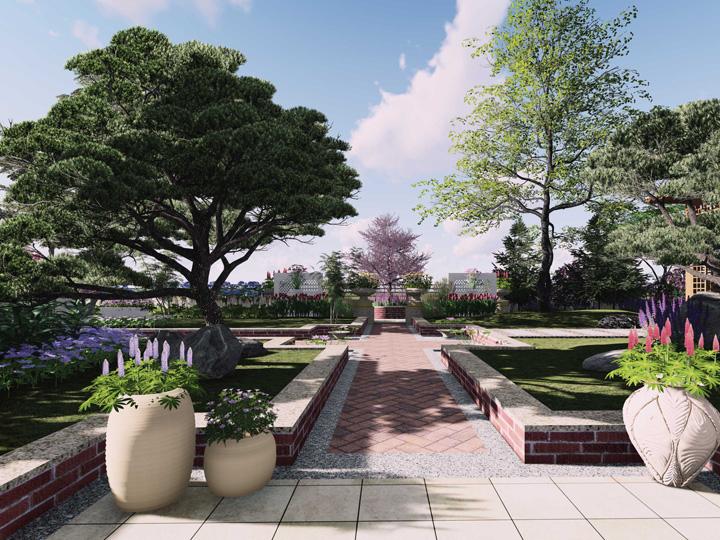 <b>朱先生屋顶花园景观设计方案动画展示</b>