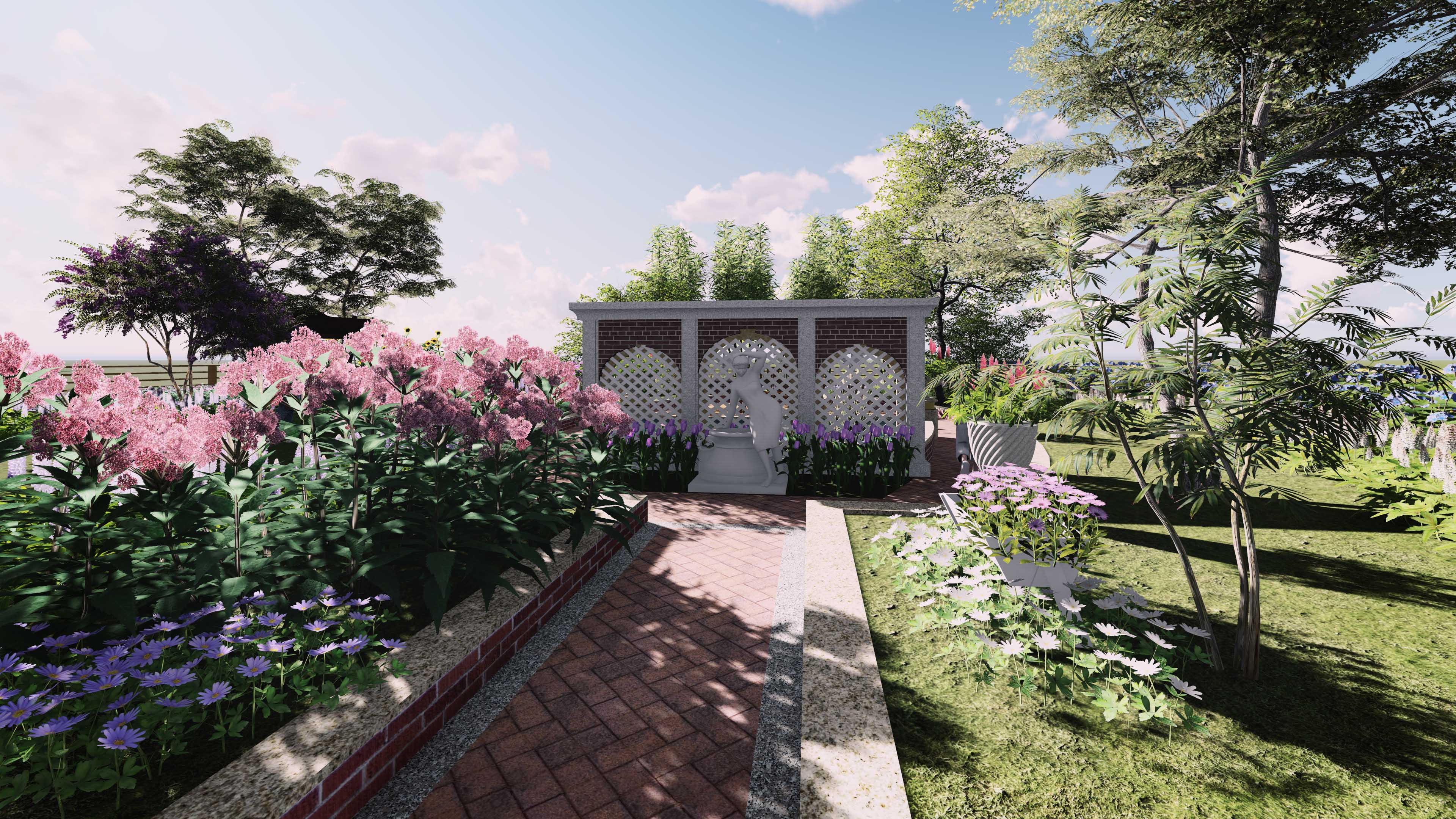 朱先生屋顶花园景观设计,别墅私家花园设计,屋顶花园设计,阳台花园
