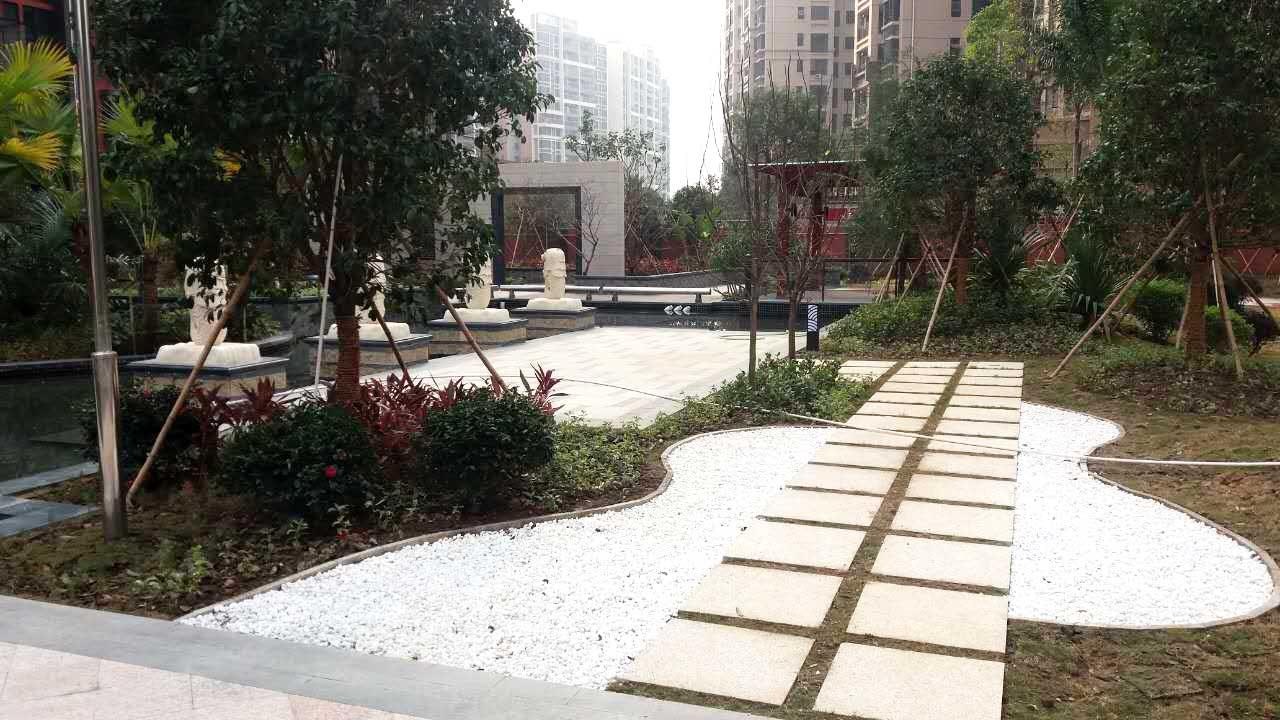 顺德龙江中汇一米范小区园林景观设计工程实景图三