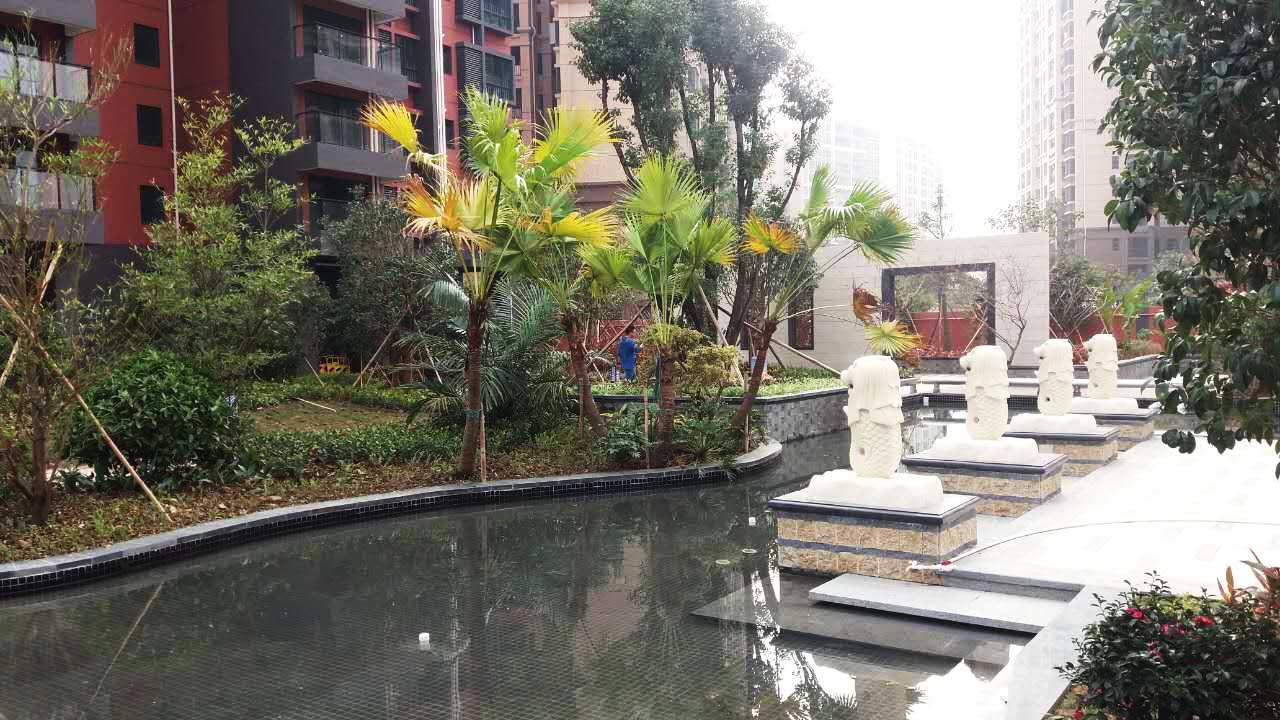 顺德龙江中汇一米范小区园林景观设计工程实景图一