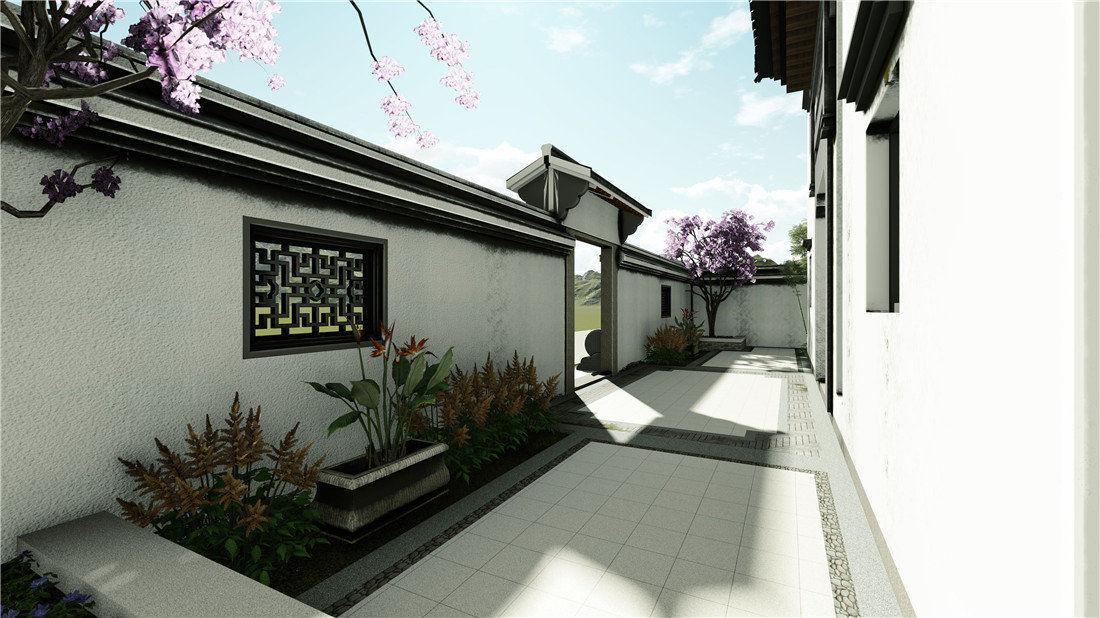陈先生别墅花园设计效果图五