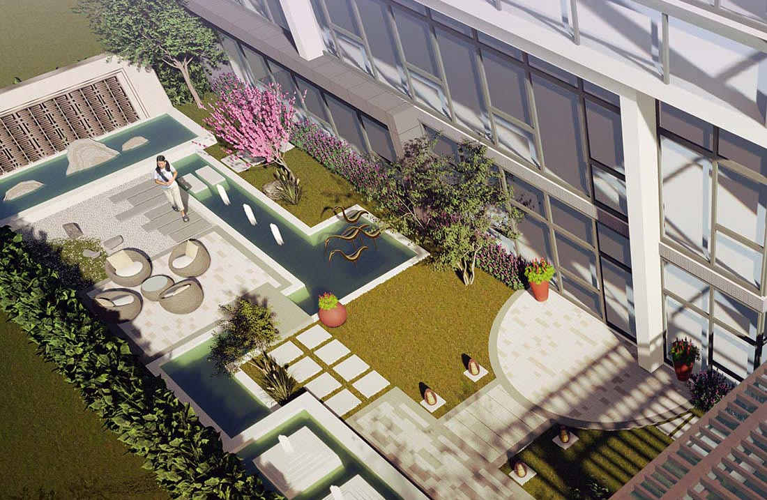 工业园花园景观设计效果图