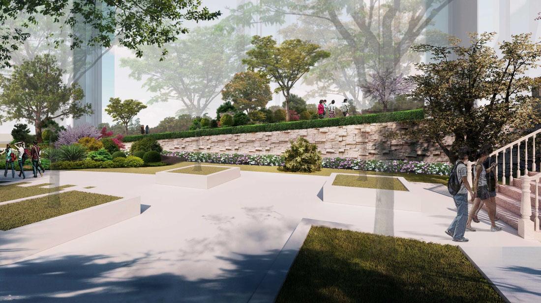 居住小区园林景观设计效果图二