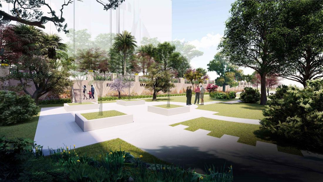 居住小区园林景观设计效果图三