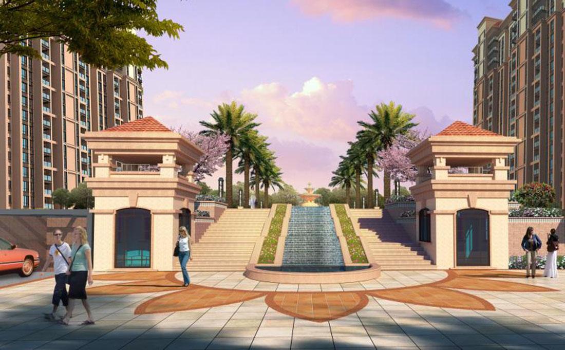 居住小区二期园林景观设计方案三