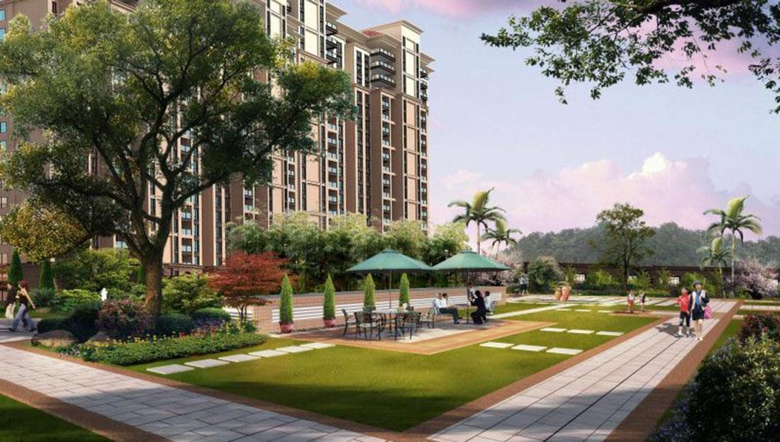 居住小区二期园林景观设计方案四
